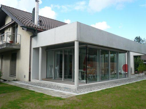 2009 Wabern – Anbau Wohnraumerweiterung u. Wintergarten